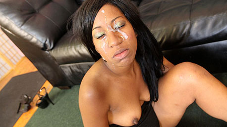 Lady Fire Takes a Huge Humiliating load of Cum to the Face